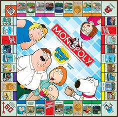 Image detail for -Take a Look at the Family Guy Monopoly Board Family Guy Game, Family Games, Monopoly Board, Monopoly Game, Cartoon Fan, Most Played, Vintage Board Games, Halloween Items, Barbie World