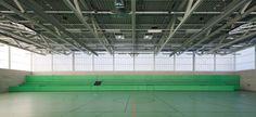 plus4930 Architektur, Werner Huthmacher · Coliseum and temporary gallery Campus Ruetli