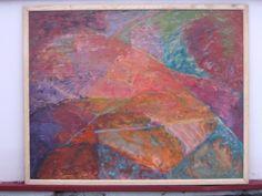 Abstrakcja - Pustynia - olej na płotnie