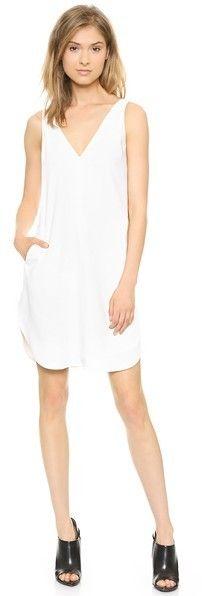 T by Alexander Wang V Neck Strap Dress
