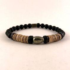 Men Onyx Bracelet  Mens Wood and Gemstone Bracelets Men