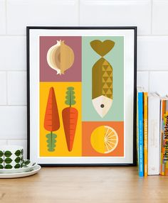 Skandinavische Druck Reteo Küche Küche drucken Kunst für von handz