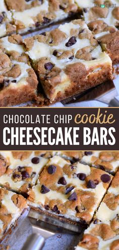 Chocolate Chip Cookie Cheesecake, Cheesecake Cookies, Chocolate Desserts, Chocolate Chip Cookies, Oreo Desserts, Chocolate Tarts, Fruit Recipes, Brownie Recipes, Cookie Recipes