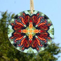 Monarch Butterfly Suncatcher Boho Chic Mandala by melbecreations