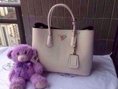 prada fake handbags - 2014 Cheap Prada SOFT CALF LEATHER BACKPACK chalk white,Prada ...