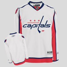 62e21ef02 Capitals Blank Stitched White Youth NHL Jersey Washington Capitals Jersey