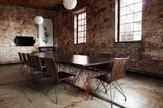 Google Umbono Boardroom - office furniture design by Haldane Martin. Photo by Micky Hoyle. Office Furniture Design, Coat Stands, Business Centre, Working Area, Contemporary Interior, Dining Table, Layout, Interior Design, Outdoor Decor