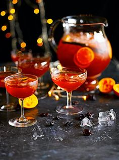 Christmas punch Full of seasonal ingredients An old-school punch bowl is a really nice idea at a party, and this festively flavoured one is ideal for this time of year
