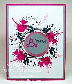 Lil Cutie Creations: Two Paper Divas~ Splatter Creatively!