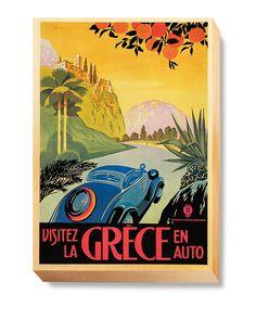 TRN 034 Transportation Art - Grece Auto