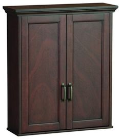 Cherry Bathroom Wall Cabinet
