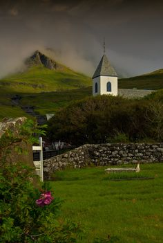 The pretty village of Kvivik on the Faroe Islands, North Atlantic. This photo remains the copyright of The Odessa Files, www.theodessafiles.co.uk
