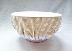 Couvercle Zéro déchet en tissu pour bol - Charlotte durable pour saladiers - Bien-être naturel à la maison : Textiles et tapis par ca-cause-au-lavoir
