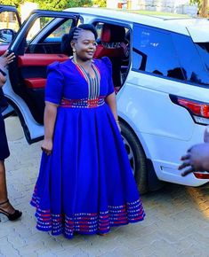 South African Traditional Dresses, Traditional Dresses Designs, Latest African Fashion Dresses, African Dresses For Women, Venda Traditional Attire, African Print Clothing, African Prints, Curvy Women Outfits, Shweshwe Dresses