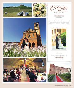 BiancaWeddings Italian destination wedding as seen in Ceremony magazine. #destinationweddings