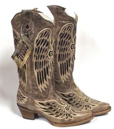 Corral Womens Brown Black Sequin Wing and Cross Boot - South 40 Western Wear Corral Boots, Cool Things To Buy, Stuff To Buy, Black Sequins, Western Wear, Cowboy Boots, Wings, Brown, Leather