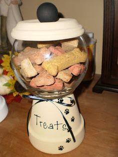 Cute little doggie treat jar