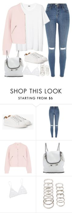"""""""Untitled#4459"""" by fashionnfacts ❤ liked on Polyvore featuring MANGO, River Island, Acne Studios, STELLA McCARTNEY, Hanky Panky and Forever 21"""