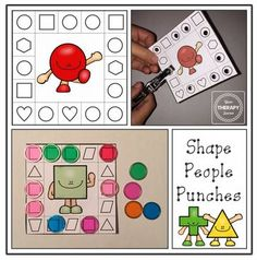 Hand Strengthening Activity of the Week: Shape People Punches Freebiepinned by @PediaStaff – Please Visit ht.ly/63sNtfor all our pediatric therapy pins