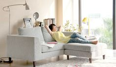 Mini L shape - Small Corner Sofa - Ideal for Small Rooms- Delux Deco UK £595