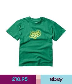 Boys' Clothing (2-16 Years) Fox Racing Boys Ticker Tee T-Shirt Motocross Mx Bmx Skate Kids Youth Green #ebay #Fashion