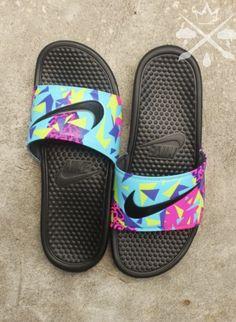 Nike Custom Bel-Air Jordan 5 Fresh Prince by DrippedCustomz Nike Sandals, Sport Sandals, Nike Shoes, Shoes Sneakers, Sandals Outfit, Jordan 5, Crazy Shoes, Me Too Shoes, Zapatillas Nike Jordan