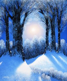"""Frozen Forest"" by Jon Rattenbury.  Mural from www.magicmurals.com"