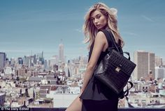 Practical: Hailey has worked with the brand to design a capsule collection that includes a backpack, clutch and passport holder