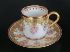Charles Field Haviland Limoges Cup and Saucer 1891 France Tea Cup Saucer, Tea Cups, Tea And Crumpets, Turkish Coffee Cups, Perfect Cup Of Tea, Pottery Teapots, Tea Service, Coffee Set, China Porcelain