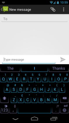 SwiftKey's Neon theme, unveiled originally as part of SwiftKey Tablet X and then launched with SwiftKey X in July 2011.