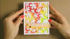 Thank You Card with Spellbinders dies