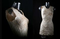Make a statement by wearing this sleek dress made from mushroom mycelium.
