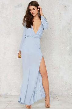 Necking Order Maxi Dress