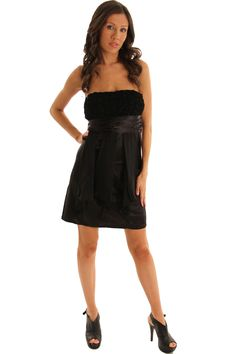 DHStyles Women's Black Strapless Luxe Satin and Chiffon Rosette Dress - Medium #sexytops #clubclothes #sexydresses #fashionablesexydress #sexyshirts #sexyclothes #cocktaildresses #clubwear #cheapsexydresses #clubdresses #cheaptops #partytops #partydress #haltertops #cocktaildresses #partydresses #minidress #nightclubclothes #hotfashion #juniorsclothing #cocktaildress #glamclothing #sexytop #womensclothes #clubbingclothes #juniorsclothes #juniorclothes #trendyclothing #minidresses…