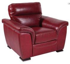 Canap s en cuir rouge sur pinterest canap s en cuir sofas en cuir rouge et - Canape cuir rouge conforama ...