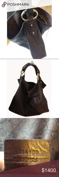"""Gucci guccissima horsebit hobo bag Authentic Gucci horse bit bag with guccissima print. 100% genuine leather. Gold hardware. Size 14""""x5""""x19"""" good condition. Corner bottom has leather fade which can be dyed. Gucci Bags Hobos"""
