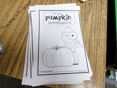 Teaching with Grace: I'm giviing away a copy of Ms. Deanna Jump's fabulous Pumpkin Patch Palooza!  Pumpkin Investigators with Deanna Jump!  It is filled with TONS of great activities!  I love that this is a perfect activity for Fall in general, not just Halloween!