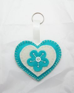 Heart Felt Keyring or Bag Charm