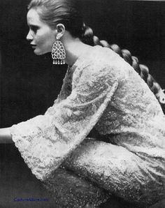 Beaded gown by Dior London, 1966.