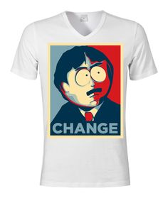 South Park Randy Marsh Change Election Obama Style men/'s top t shirt black