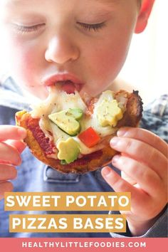 Kids Meals These sweet potato pizza bases are great for baby led weaning, toddlers and big kids. Can be used is a variety of ways, detailed in the recipe. Kids Cooking Recipes, Baby Food Recipes, Gourmet Recipes, Kids Meals, Snack Recipes, Cooking With Toddlers, Cooking Bacon, Easy Cooking, Healthy Cooking