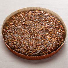 Chocolate Bourbon Pecan Torte in Pan