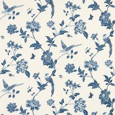 Elveden Sapphire Wallpaper