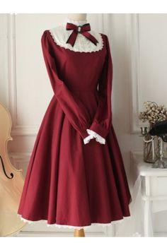 Long Sleeves Vintage Classic Lolita Dress 7 Colors