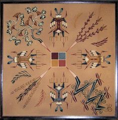 Navajo Sand Painting Native American Patterns, Native American Tribes, Native Americans, Sand Painting, Sand Art, Southwestern Art, Southwest Style, Navajo National Monument, Navajo Art