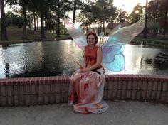 Magnolia Fawn Fairy Queen of Autumn at the Texarkana Renaissance Festival. Fairy costume
