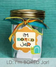 """Miss Audrey Sue: LD: """"I'm Bored Jar""""  Chores and activities"""