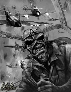 Iron🤘Maiden em p. Iron Maiden Posters, Eddie The Head, Pics, Rock Posters, Artwork, Pictures, Maiden, Skulls Drawing, Dark Fantasy Art