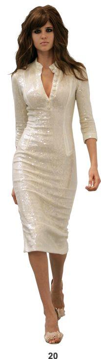 white sequins dress