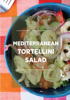 Make a light summer snack with this delicious Mediterranean Tortellini Salad with Red Wine Vinaigrette!